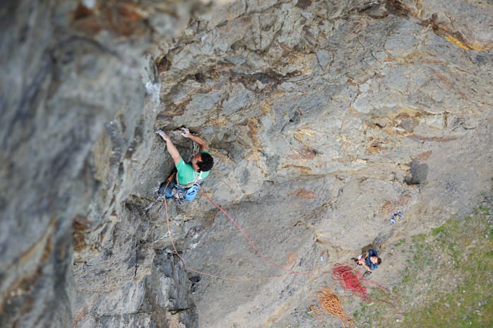 Nick on the starting section shared with Crucial Condition (E5). © Ray Wood
