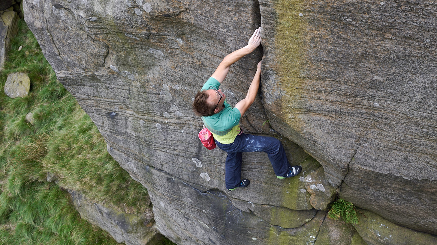 Ben Bransby, Nordes with Attitude (E4 6c), Stanage.