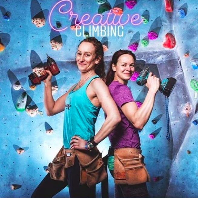 Emma and Evie Cotrulia, founders of Creative Climbing.