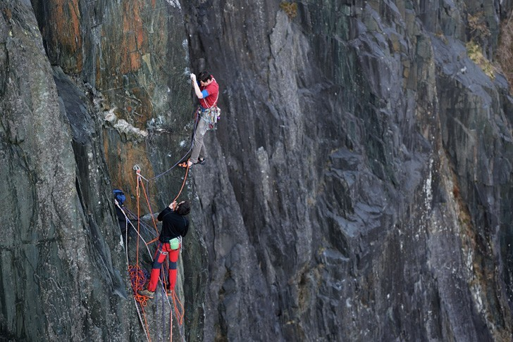 Pete and Caff on the third pitch of Coeur de Lion. © Ray Wood