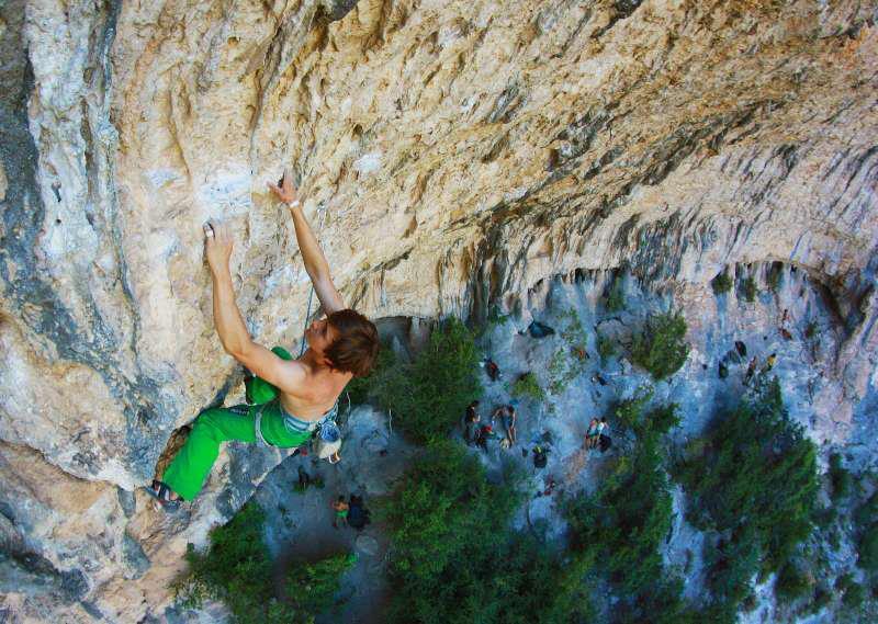 Szymon climbing in Rodellar ©