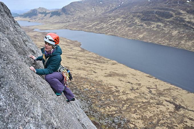 Lochan na h-Earba stretching away below.