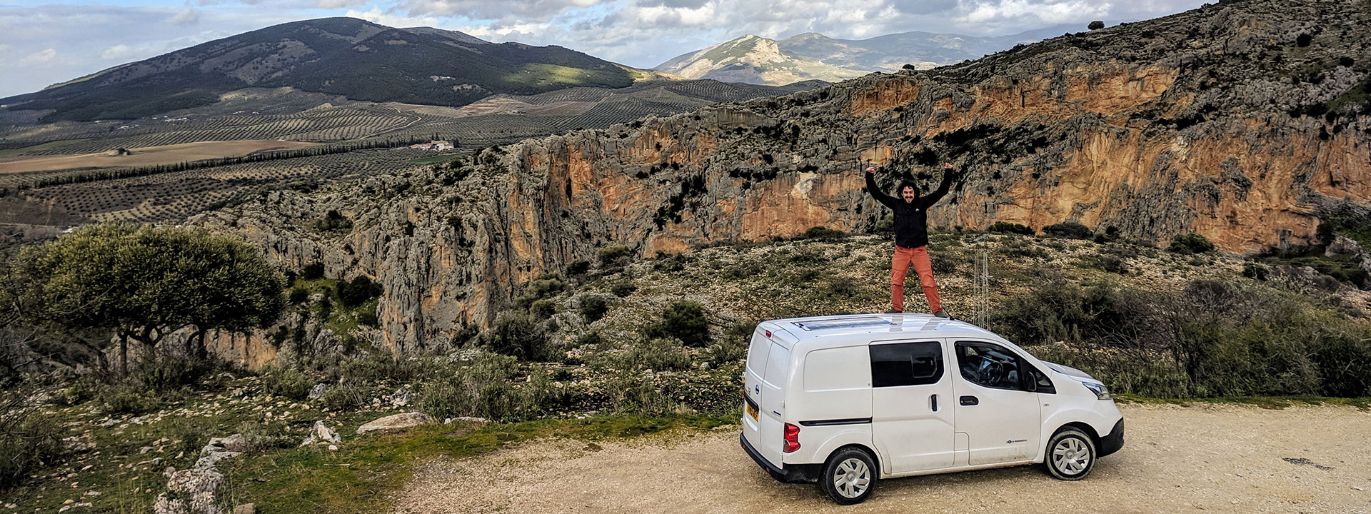 Climbing trip electric van