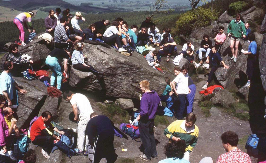 Busy scenes during the Burnley Boulder Bash at Crookrise in 1991.