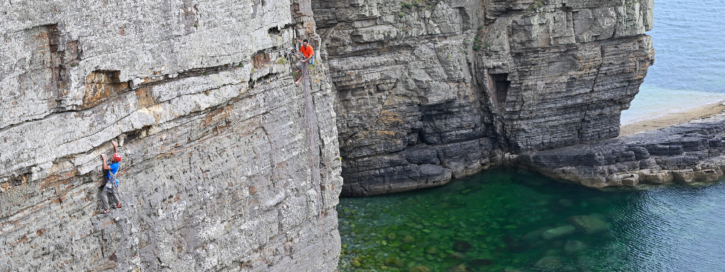 Mick Lovatt heading out across Byzantium Wall on the first day.