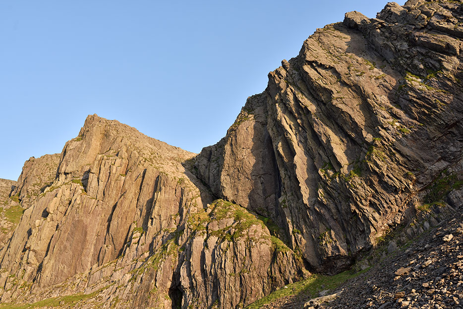 The West Buttress of Clogwyn Du'r Arddu.