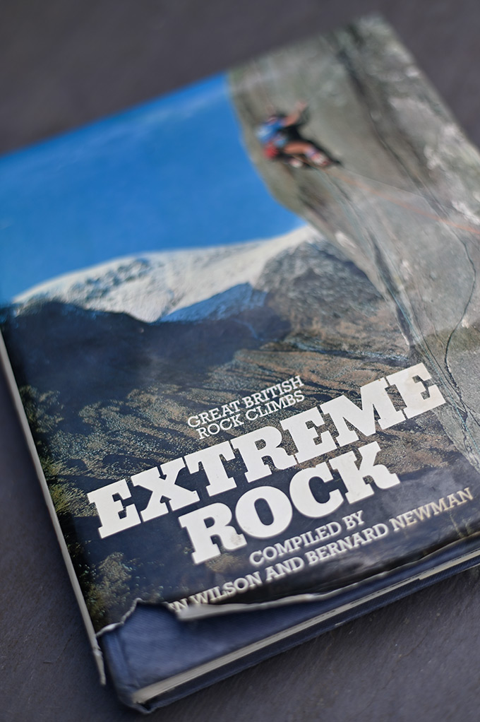McHaffie's well thumbed copy of the venerable Extreme Rock. © Ray Wood