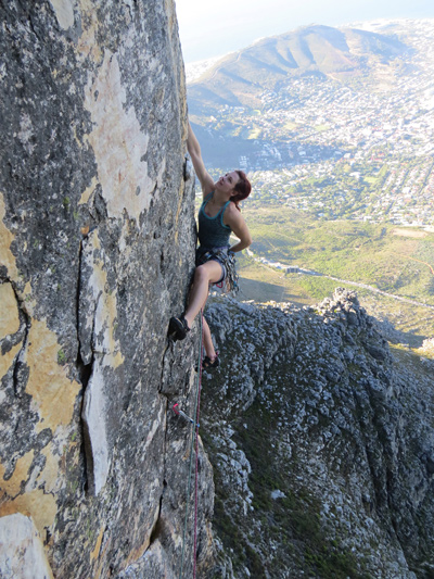 Emma Twyford Out to Lunch (24/E4), Table Mountain, S.Africa. Ph: Charles (Snort)