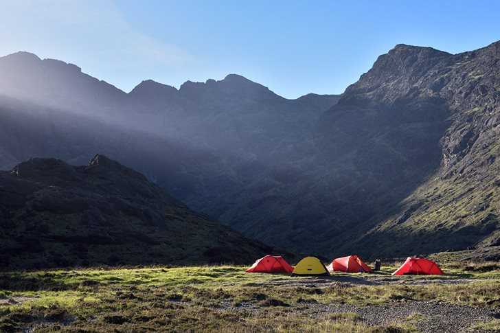 Camp site at the head of Loch Coruisk on the first attempt at Moonrise Kingdom. © Ray Wood