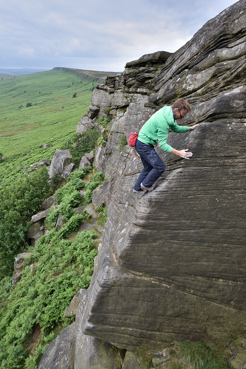 Ben Bransby, Scorpion Slab (HS), Stanage.
